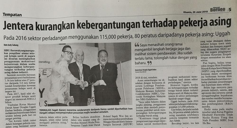 Utusan Borneo (26/07/18)
